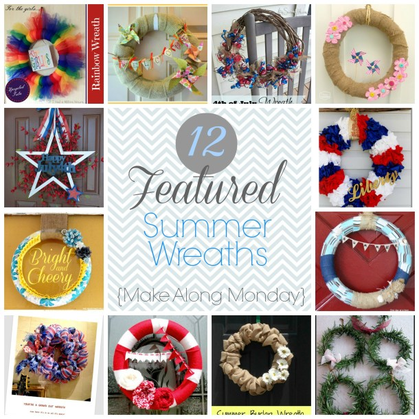 Make Along Monday featured Summer Wreaths{Onekriegerchick.com}