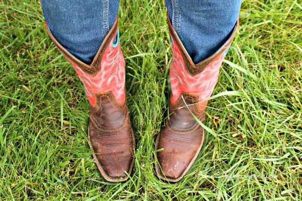 WIWW melon cowboy boots {Onekriegerchick.com}