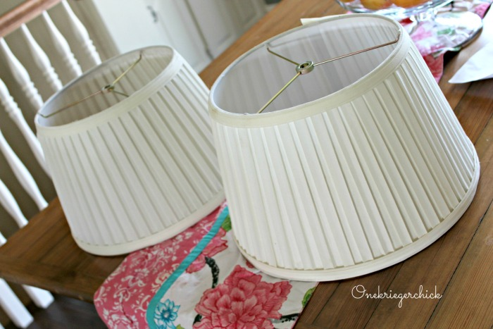 lampshades before