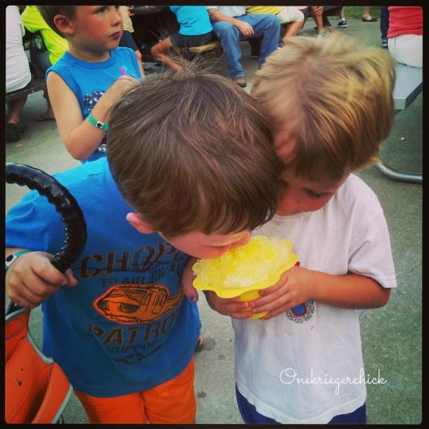 Cousins sharing {Onekriegerchick.com}
