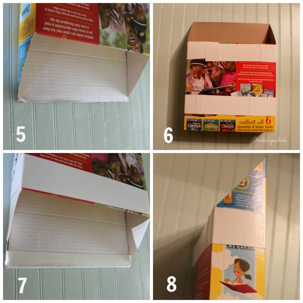 cereal box to drop box steps 5-8 {Onekriegerchick.com}