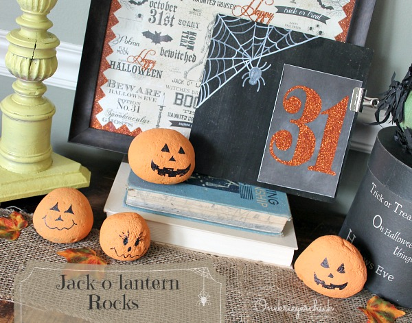 Jack-o-lantern Rocks {fun and easy kids craft}