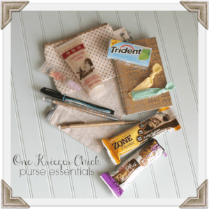 OneKriegerChick purse essentials