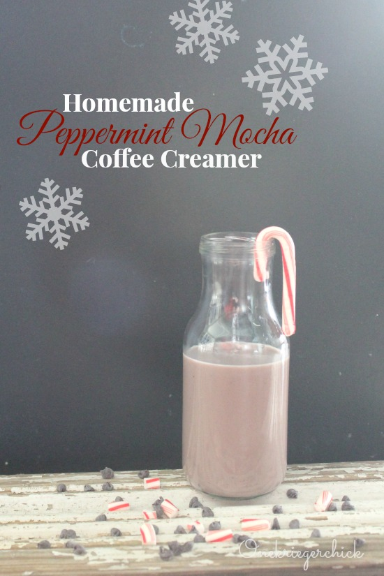 Homemade Peppermint Mocha Coffee Creamer