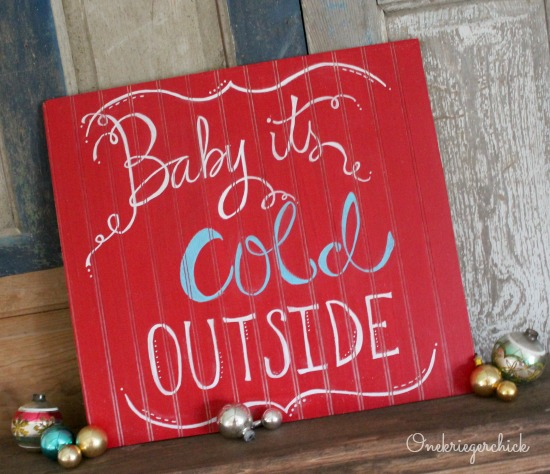 How cool... a red chalkboard!