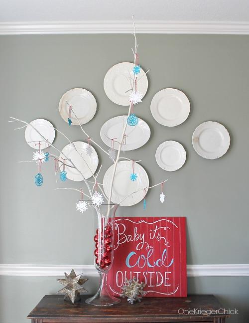 DIY Glitter Snowflake Tree