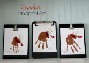 DIY Reindeer Handprint Art- So cute!