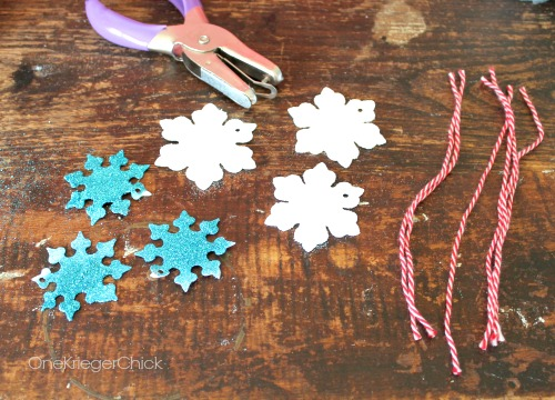 Easy DIY Glitter Snowflake Ornaments