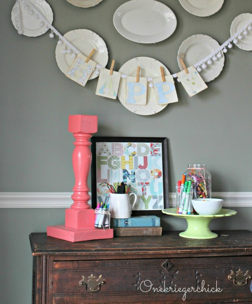 Kids Art buffet {Onekriegerchick.com}