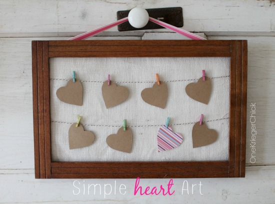 Simple Heart Art in 15 minutes!