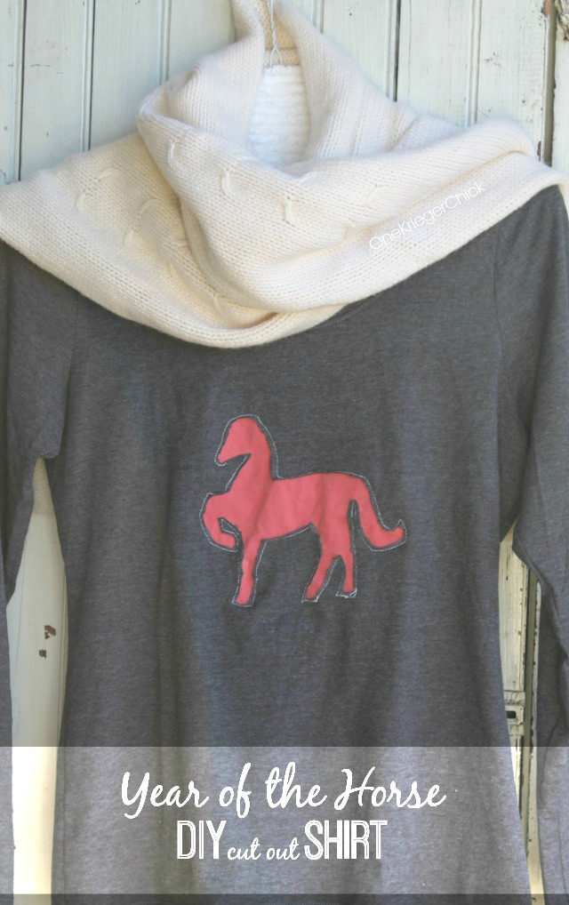 Year of the Horse DIY Cut-Out Shirt