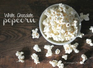 slider 2 ingredient White Chocolate Popcorn