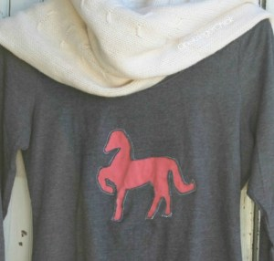 slider Year of the Horse DIY Cut-Out Shirt