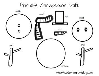snowman printable