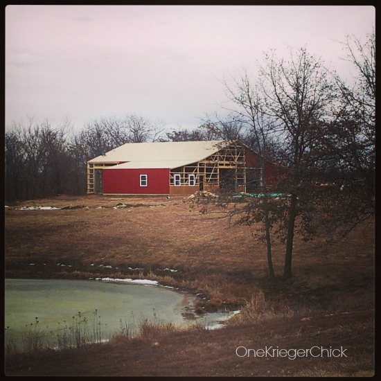Barn in progress