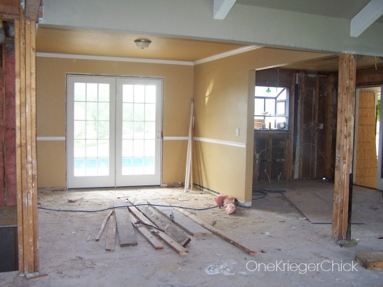 Dining Room in progress- French Doors