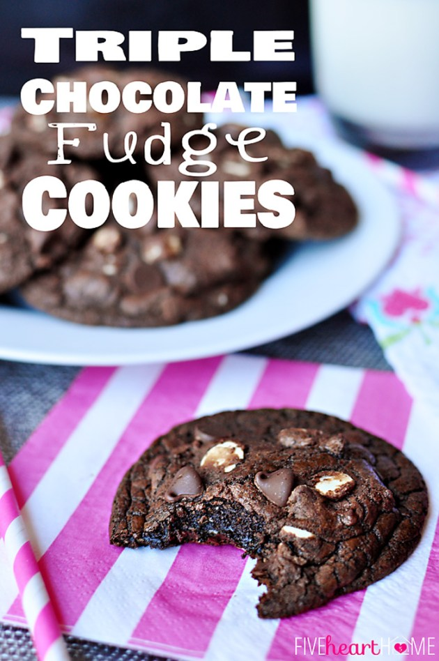 Triple-Chocolate-Fudge-Cookies-by-Five-Heart-Home