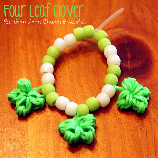 Clover rainbow loom bracelet