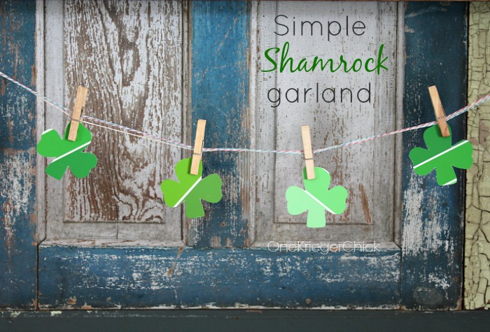 Simple Shamrock Garland