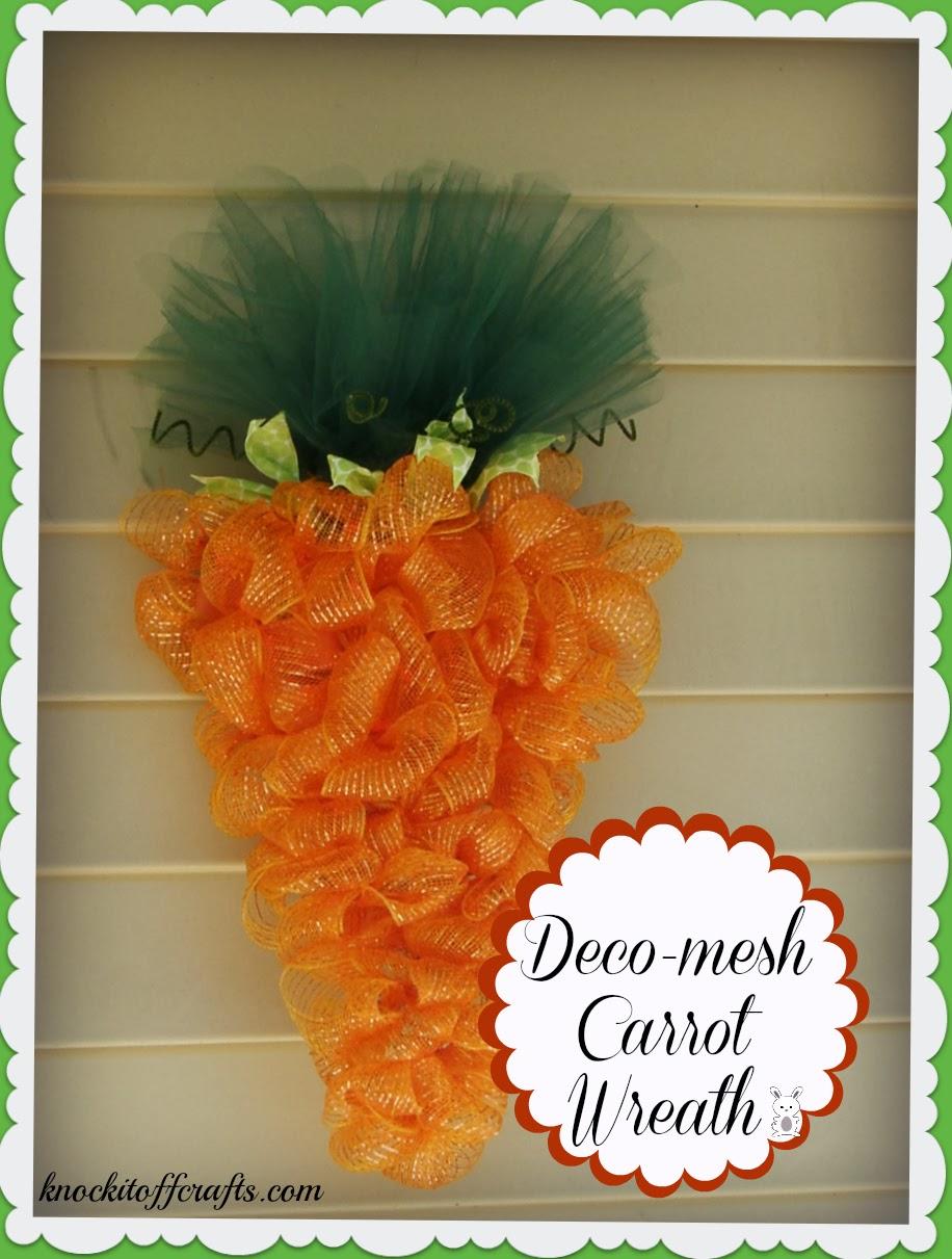 Dec Mesh Carrot Wreath