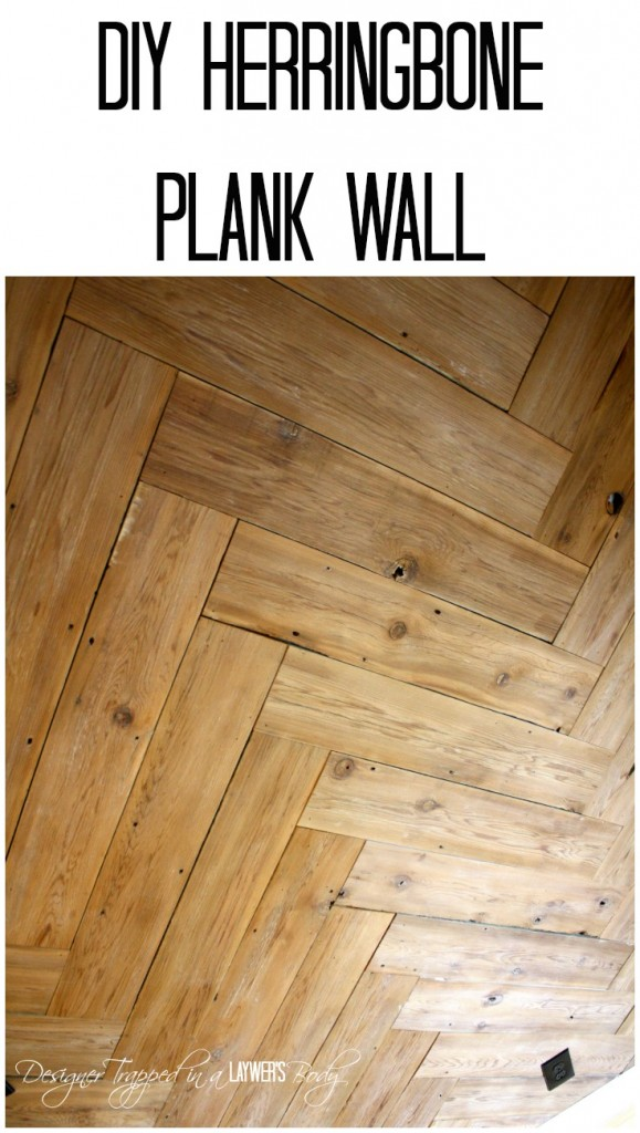 Herringbone-Plank-Wall