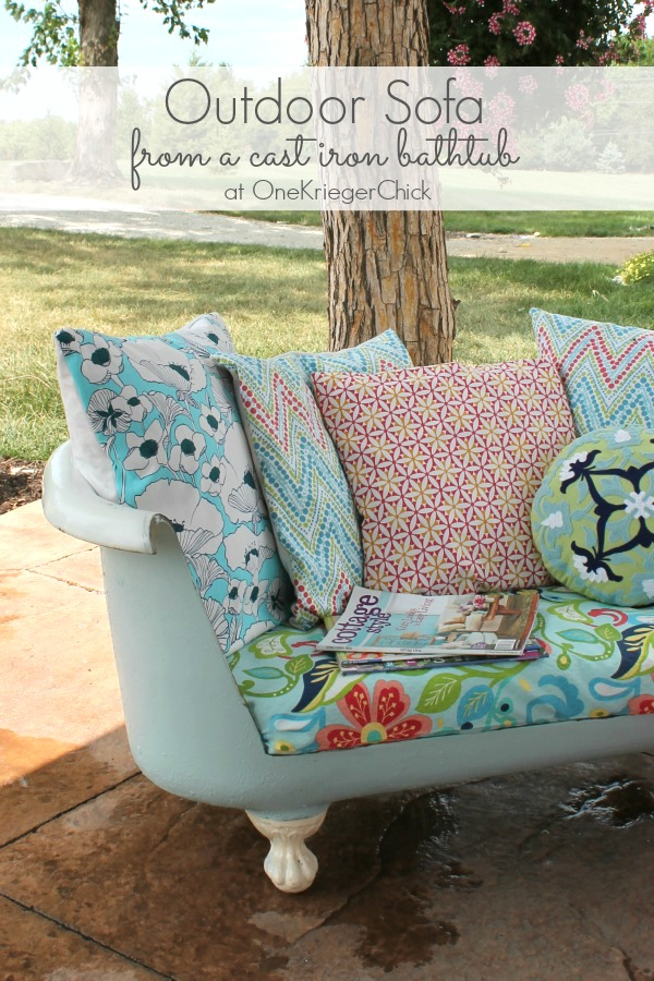 Cast Iron Bathtub to Outdoor Sofa {part 1} - onekriegerchick
