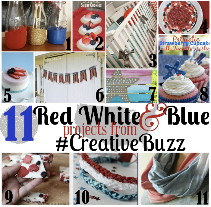 Creative Buzz Red White and Blue Themed Projects