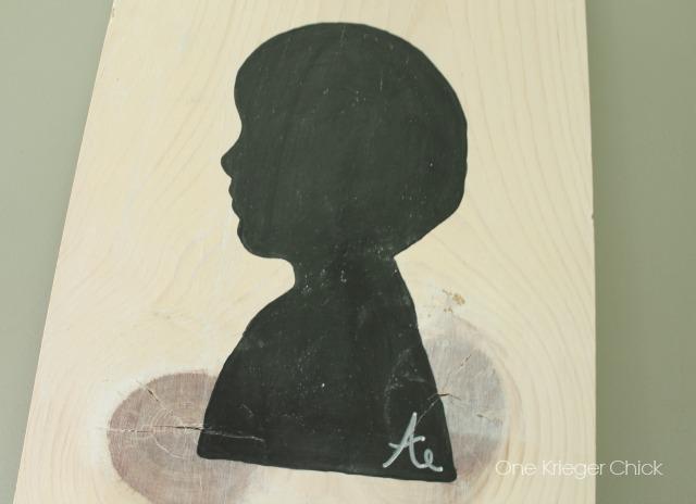 Painted Chalkboard Silhouette