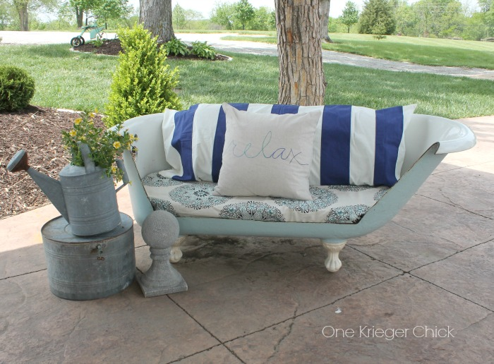 Relax Pillow and new styling on Outdoor Sofa