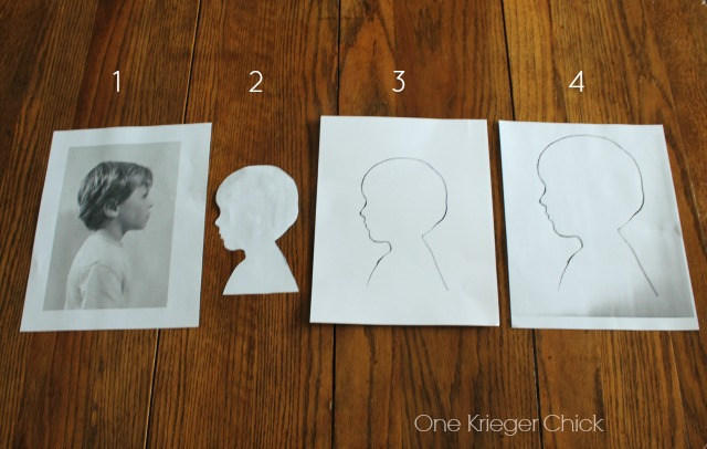 Silhouette Memory Board- Creating the Silhouette template