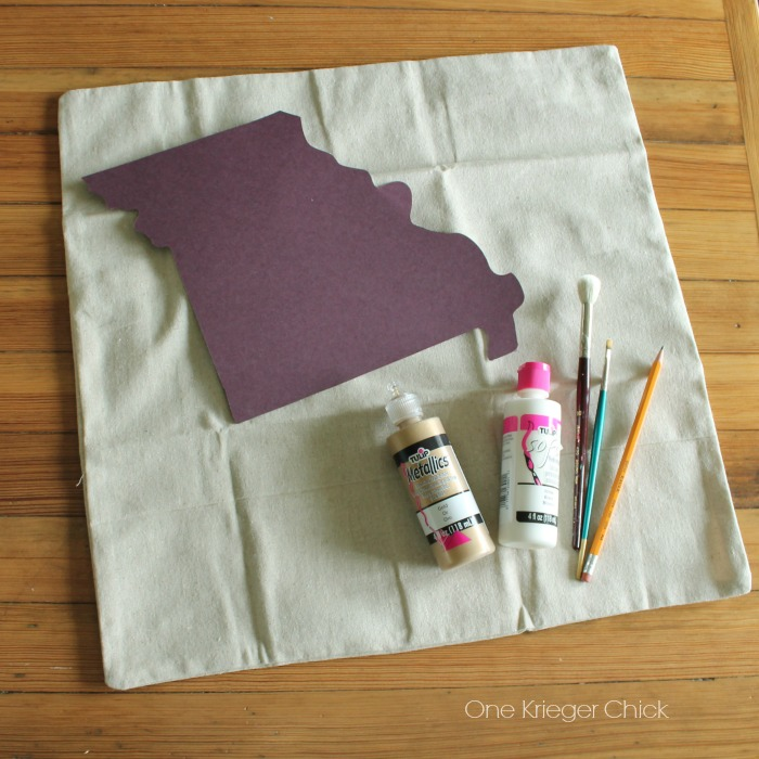 Velveteen State Love pillow- Supplies needed