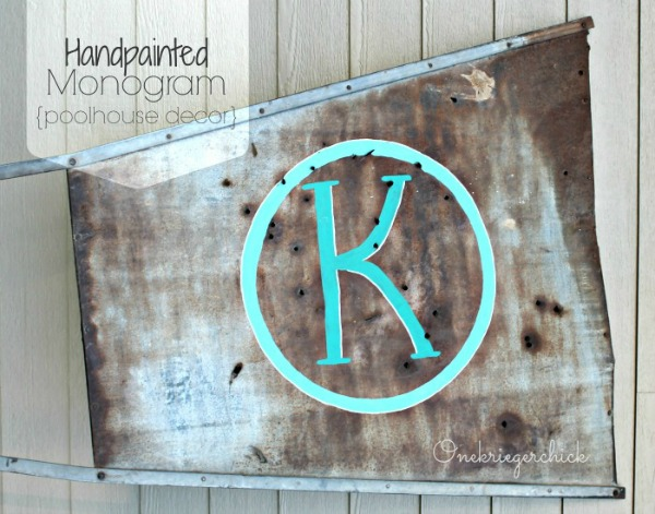DIY-Handpainted-Monogram-on-a-windmill-vane-{Onekriegerchick.com}