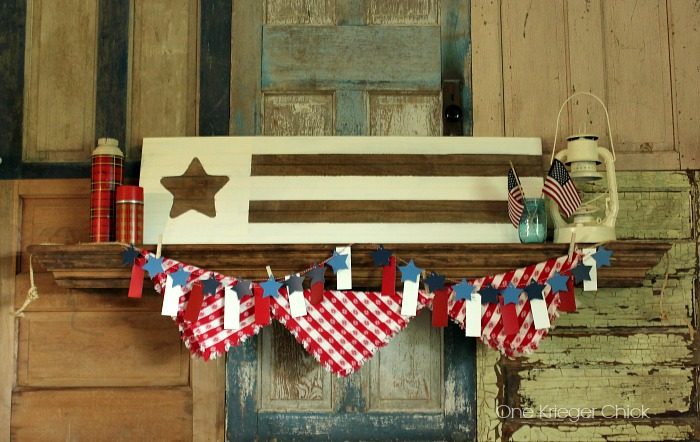 Patriotic Summer Mantel I One Krieger Chick