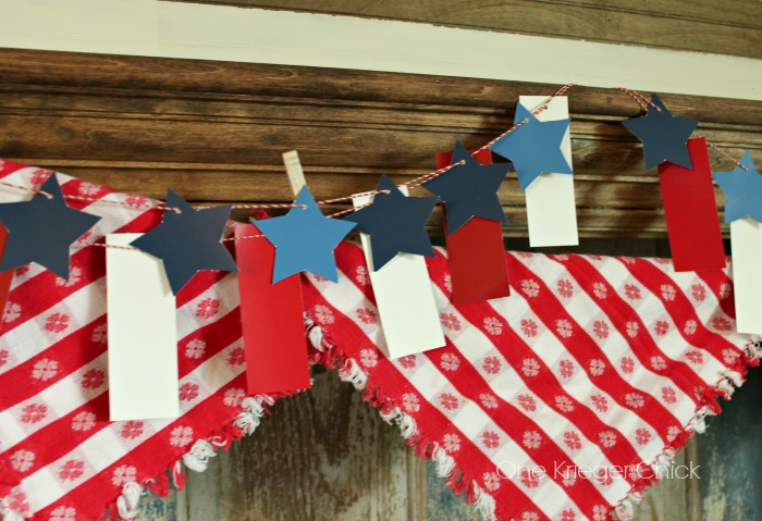 Stars and Stripes festive mantel