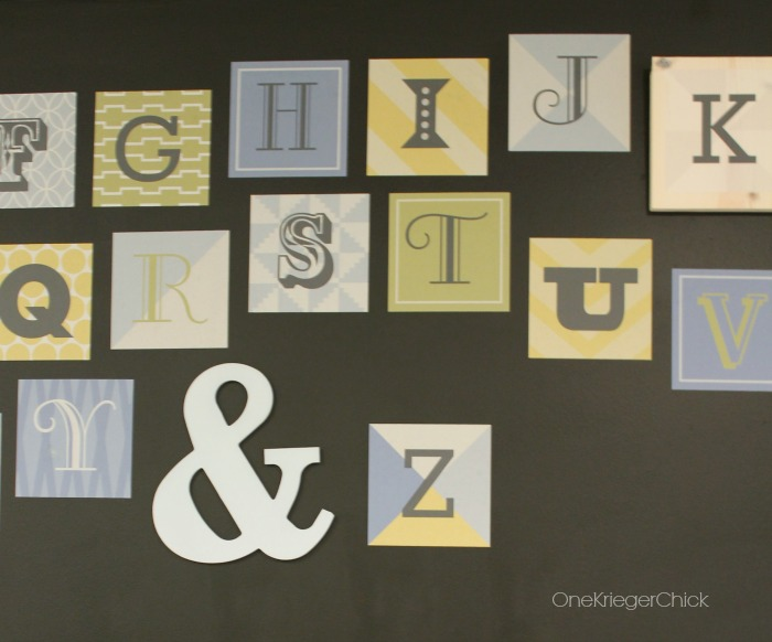 Wallternatives Wood Block Alphabet- part 1 of  Classroom reveal