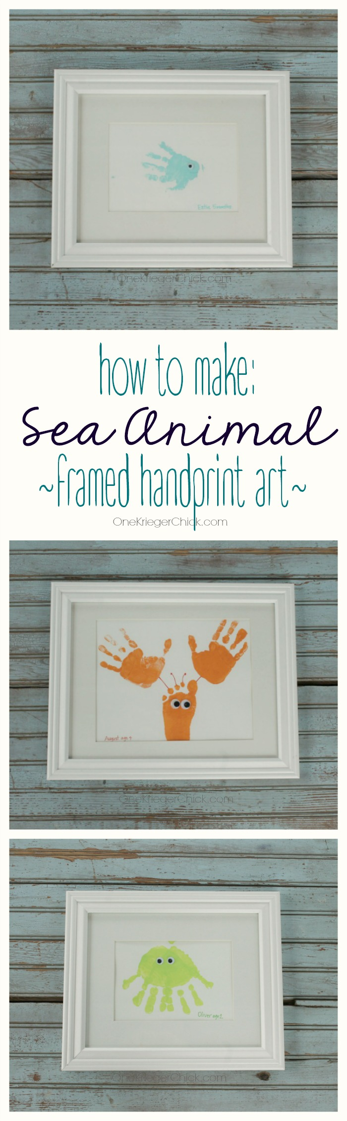 How-to-make-framed-sea-animal-handprint-art