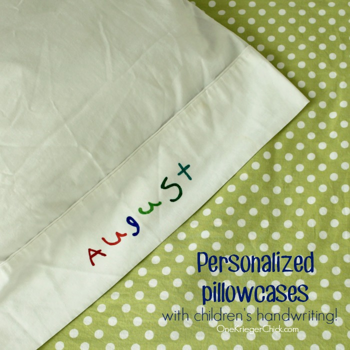 Kiddos can personalize their own pillowcases- so fun!
