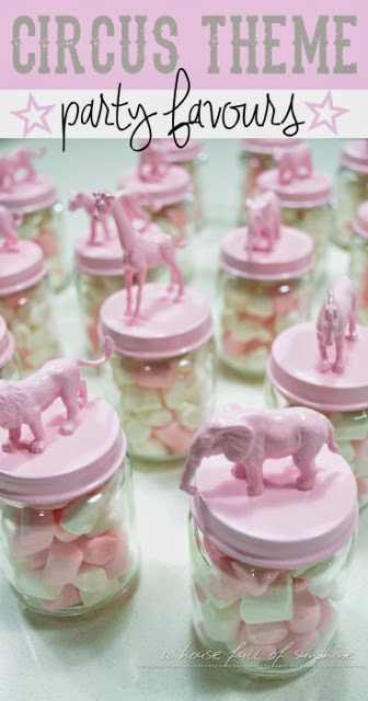 Pink Circus party favour pin