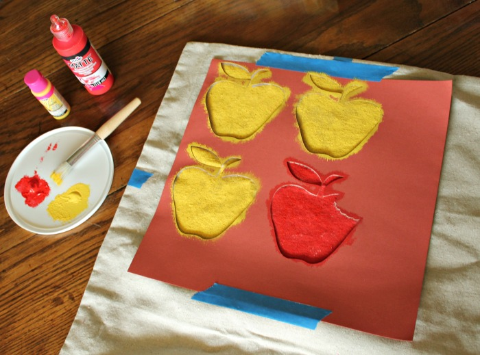 Apple stencil-painting-OneKriegerChick.com