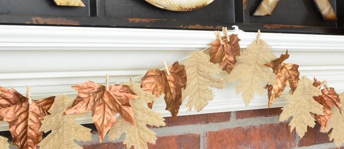 Fall Burlap & Bronze Garland {A Prudent Life guest post}
