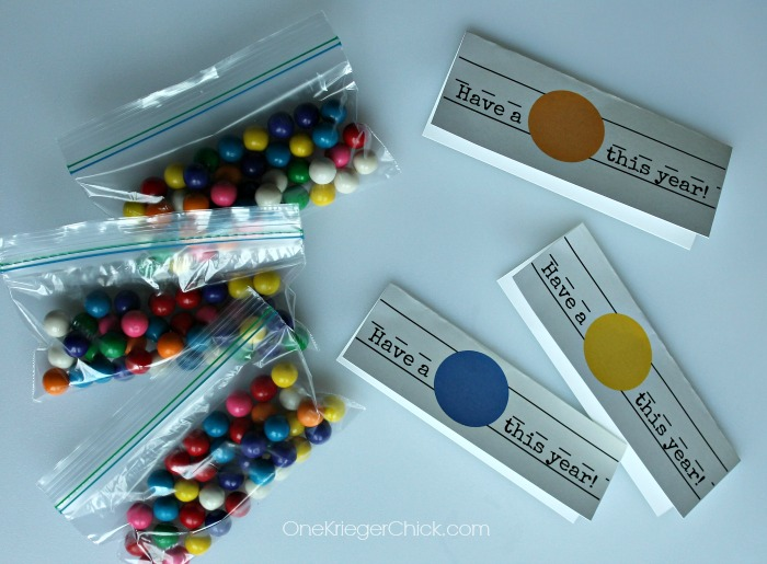 How to make gumball treat bags-OneKriegerChick.com