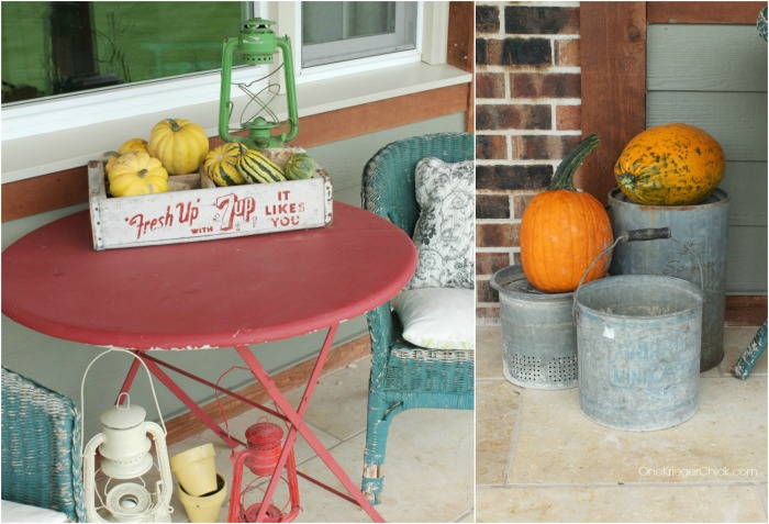 Front Porch Fall decor at OneKriegerChick.com