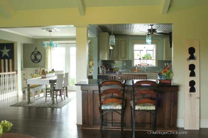 Kitchen and Dining spaces at OneKriegerChick.com