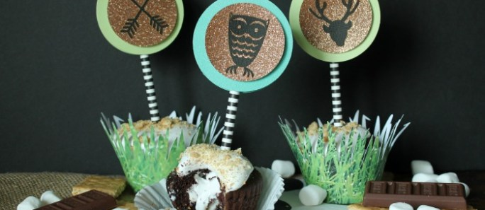 S'mores Cupcakes with Woodland decor