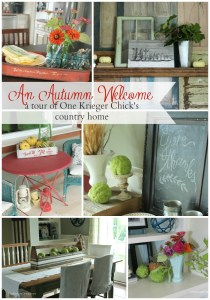 Take a tour through One Krieger Chick's darling country home at OneKriegerChick.com