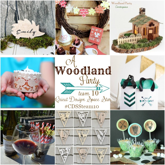 Woodland themed Party Ideas from Cricut Design Space Star Team 10