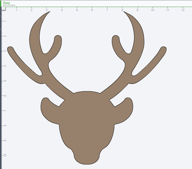 deer silhouette on Cricut Explore- OneKriegerChick.com