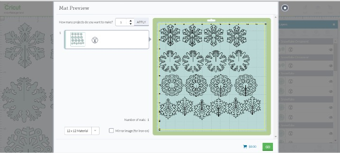 snowflakes to cut on Cricut Explore- OneKriegerChick.com