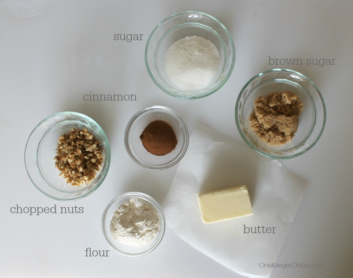 Crumble Topping ingredients-OneKriegerChick.com