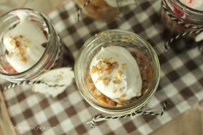 Perfect- Pie in a jar- Yum! OneKriegerChick.com